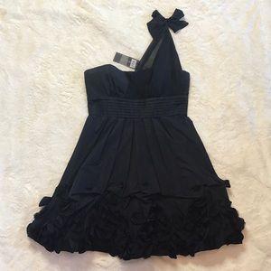 NWT Black One Shoulder BCBGMAXAZRIA Dress Size 6